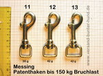 Karabiner Messing Nr.11 Patenthaken